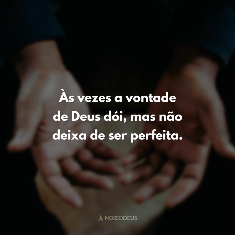 Às vezes a vontade de Deus dói, mas não deixa de ser perfeita.