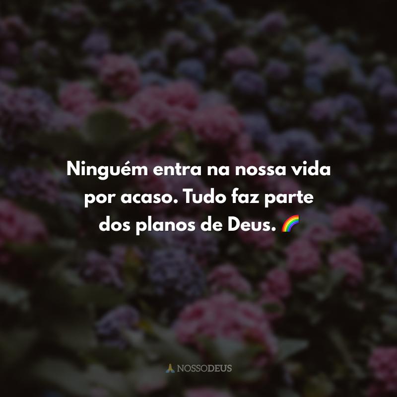 Ninguém entra na nossa vida por acaso. Tudo faz parte dos planos de Deus. 🌈