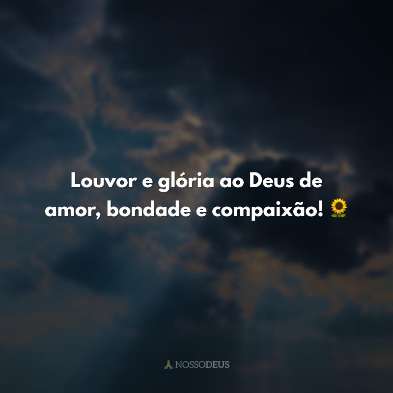 Louvor e glória ao Deus de amor, bondade e compaixão! 🌻