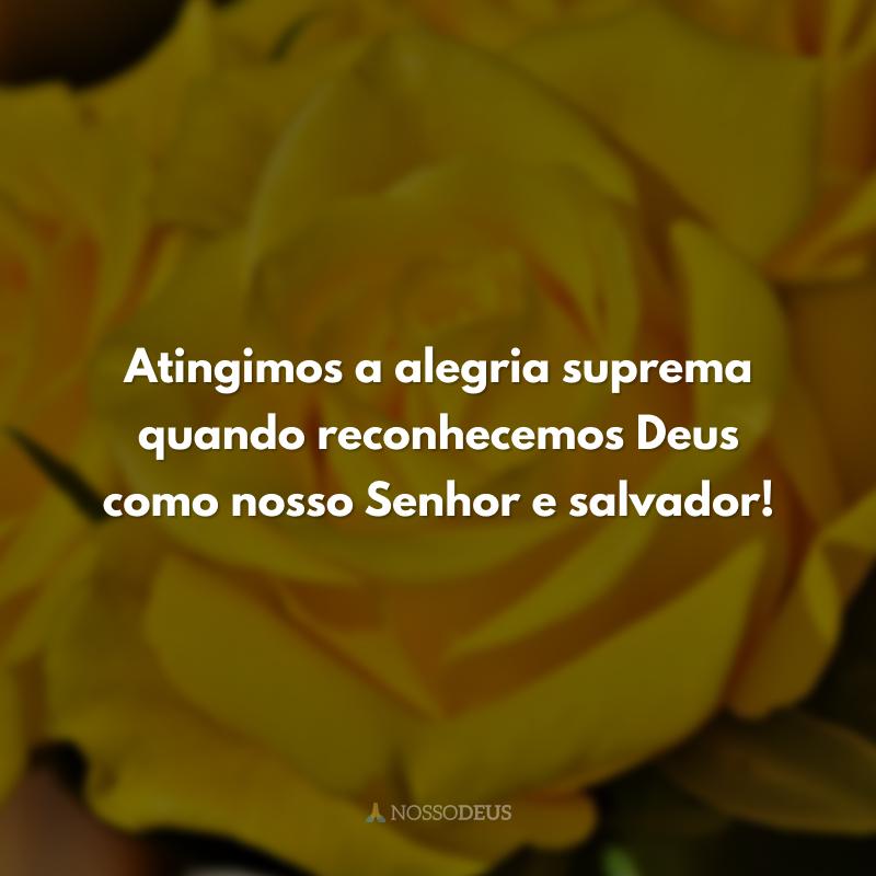 Atingimos a alegria suprema quando reconhecemos Deus como nosso Senhor e salvador!