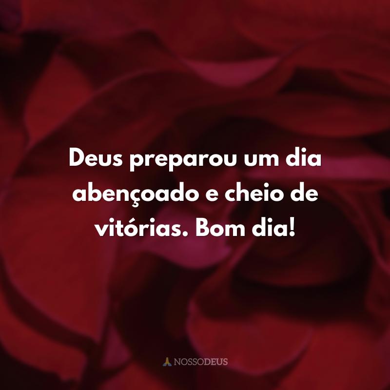 Deus preparou um dia abençoado e cheio de vitórias. Bom dia!