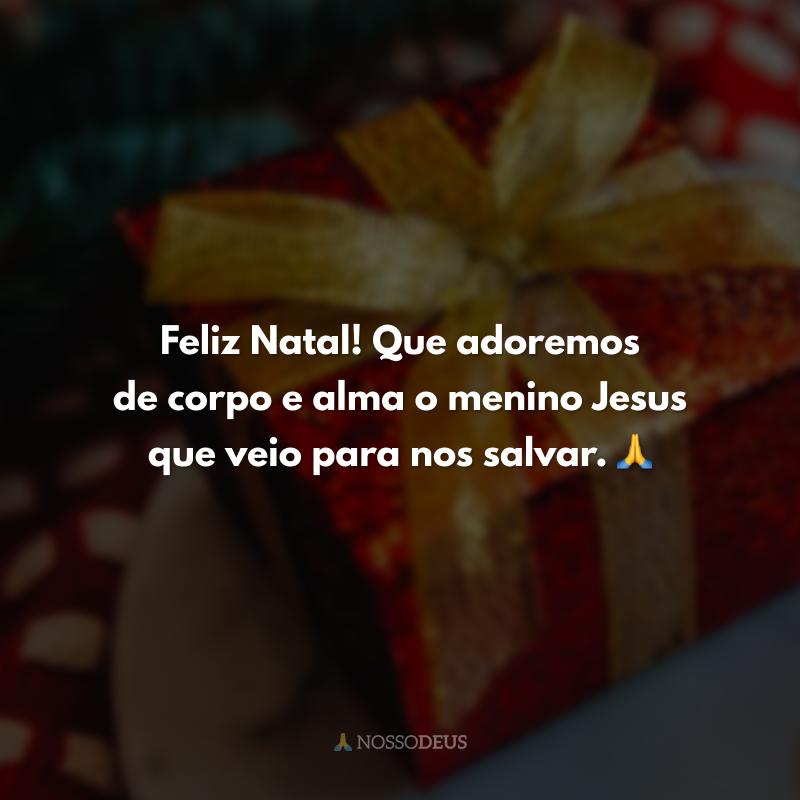 Feliz Natal! Que adoremos de corpo e alma o menino Jesus que veio para nos salvar. 🙏