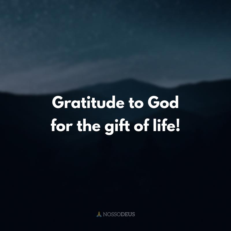 Gratitude to God for the gift of life! (Gratidão a Deus pelo dom da vida!)