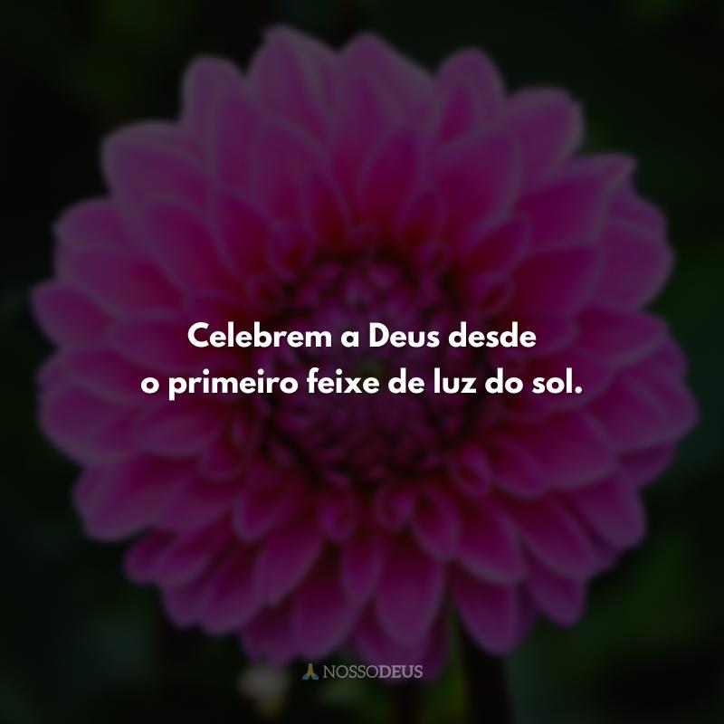 Celebrem a Deus desde o primeiro feixe de luz do sol.